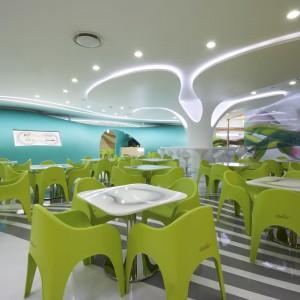 Barwna forma przyszłości. Restauracja Lotte Amoje w Seulu