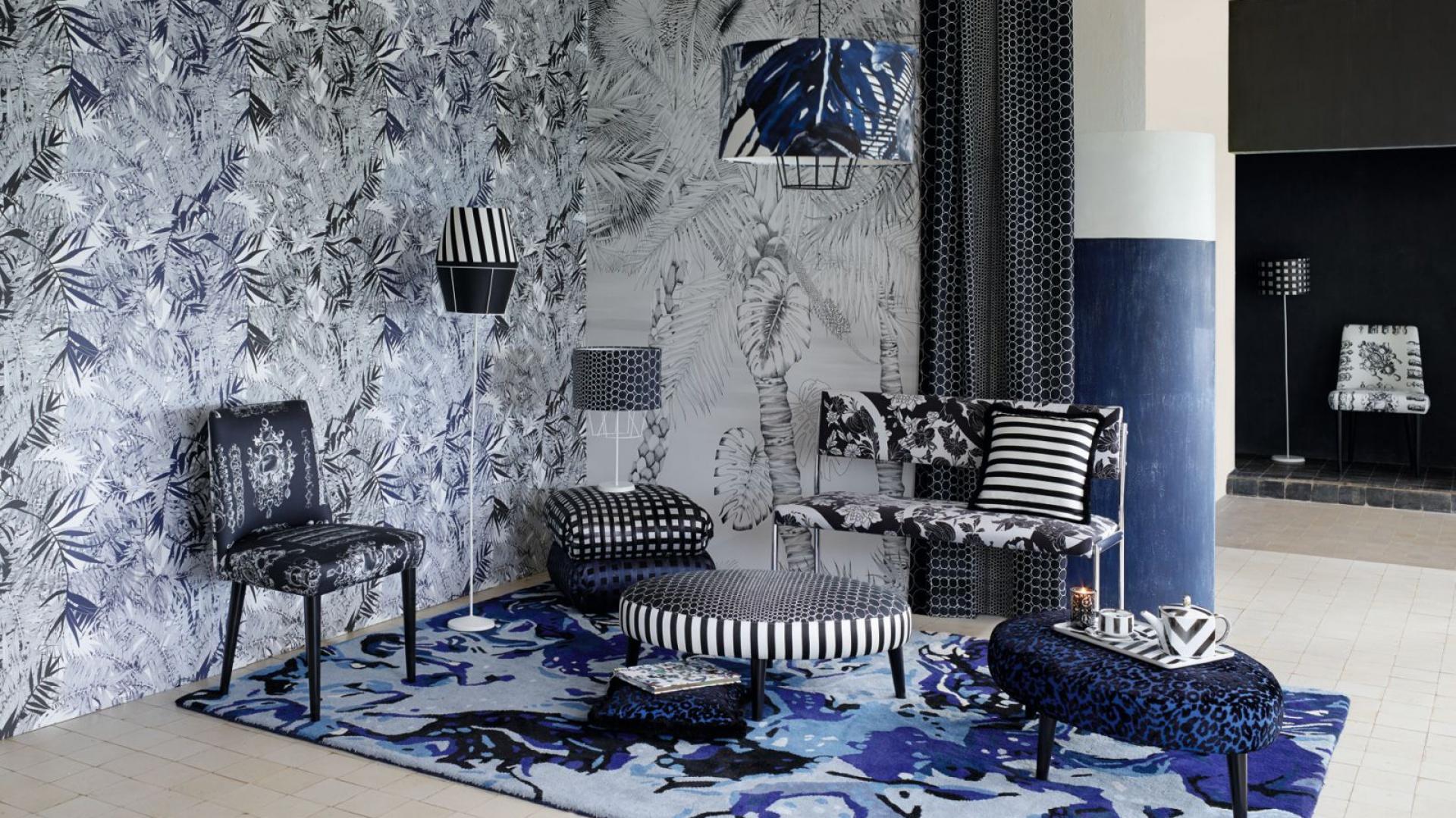 Najnowsza kolekcja Lacroix Belle Rives z 2014 r., zawierająca m.in. tkaniny obiciowe i tapety. Fot. Christian Lacroix.