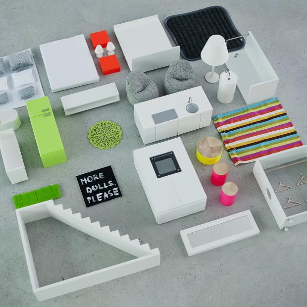 Zaprojektuj wnętrze z domkiem dla lalek