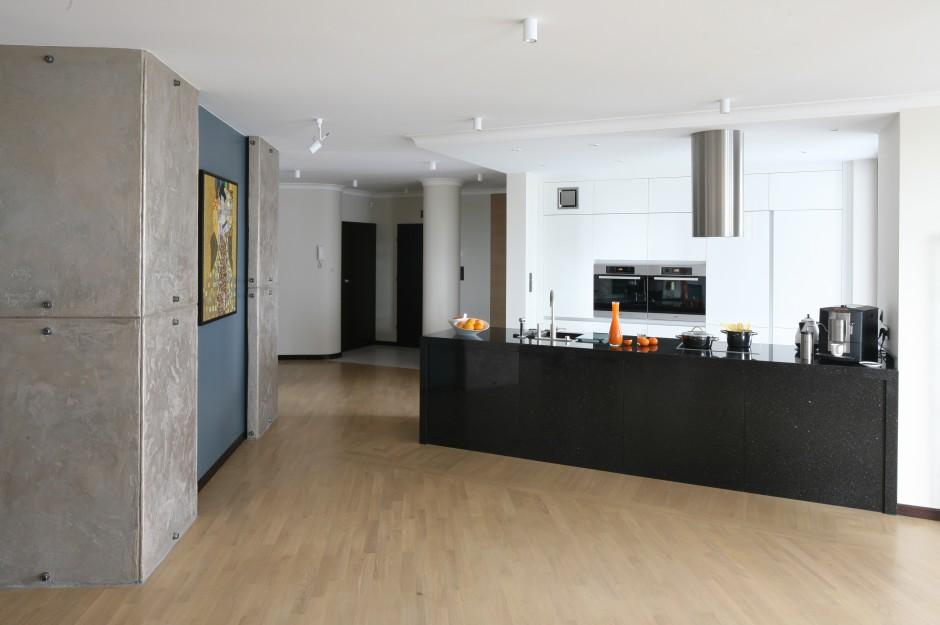 Biało czarna kuchnia w nowoczesnym stylu  Galeria   -> Czarna Kuchnia Wolnostojąca