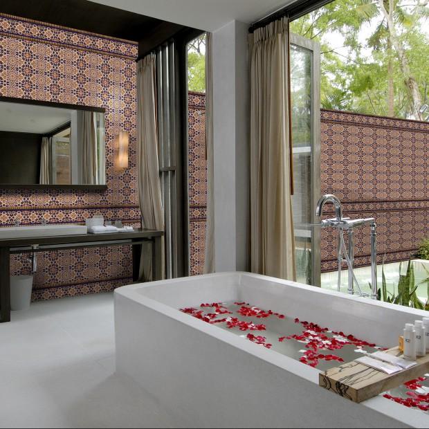 Płytki łazienkowe inspirowane Marokiem