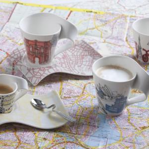 Kubki z kolekcji New Wave Caffe, na których co roku pojawiają się nowe dekory. Znajdźcie motywy związane z egzotycznymi regionami świata słynącymi z dobrej kawy oraz motywy nawiązujące do największych miast świata. Wykonane z porcelany. 74,25 zł/sztuka, Villeroy&Boch/Fide.pl.