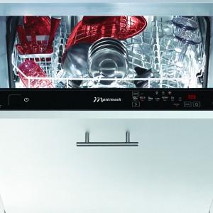 Zmywarka ZBI-12387 WSIT. Pojemność: 13 kompletów naczyń, Water Saver (system redukujący zużycie wody – do 5,8 litra na cykl), sterowanie dotykowe, wyświetlacz LED, 8 programów mycia, 7 temperatur. Klasa A++ AA, poziom hałasu 44dBA. Od 1.699 zł, Mastercook.