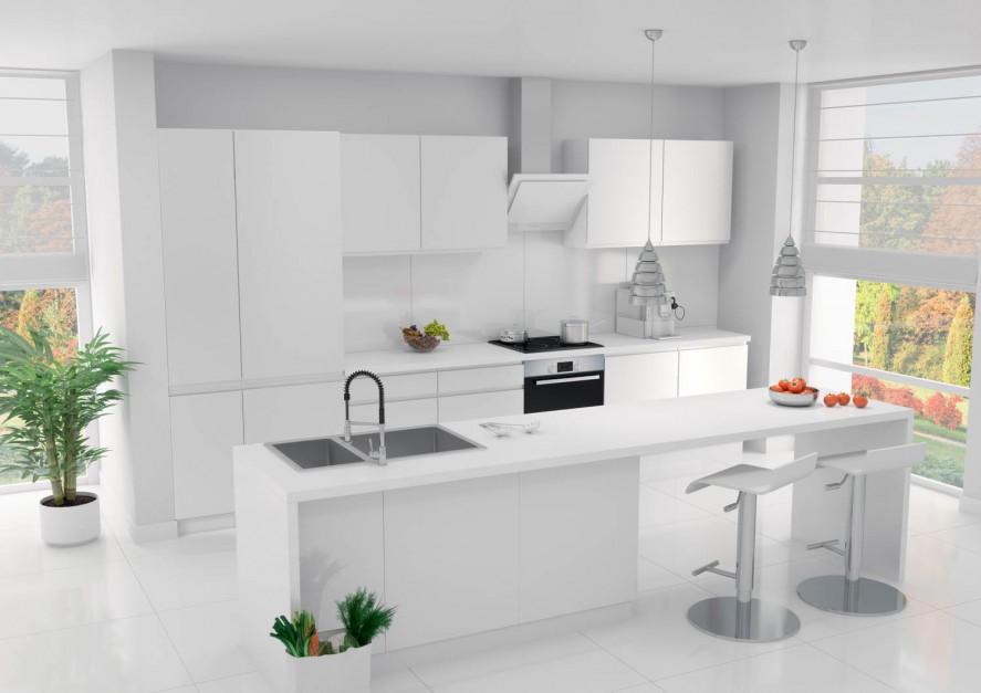 Zestaw mebli modułowych Meble do kuchni do 5000 zł   -> Castorama Kuchnia City Biala