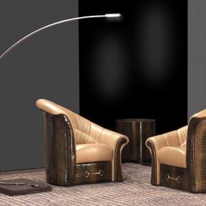 Eleganckie fotele z kolekcji Boutique firmy Formitalia Luxury Group. Fot. Fabio Luciani.