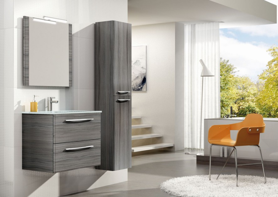 Meble łazienkowe Jump to odważne kolory i nowoczesne materiały, które połączone zostały z elegancją chromowanych uchwytów. Od 649 zł (szafka pod umywalkę), 749 zł (słupek), Elita Meble.