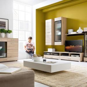 Meble do salonu: 10 propozycji w kolorze jasnego drewna. Na każdą kieszeń!