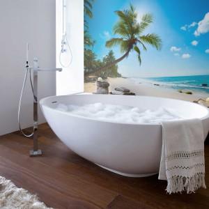 Tropikalna Plaża to fototapeta drukowana na trwałym materiale winylowym, idealnym do kuchni i łazienki. 130/m2 zł,  Pixers.pl