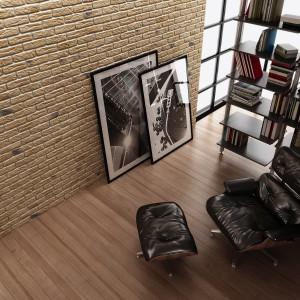 Naśladujący cegłę kamień dekoracyjny Loft Brick Karmel Stone Master. Fot. Stone Master.