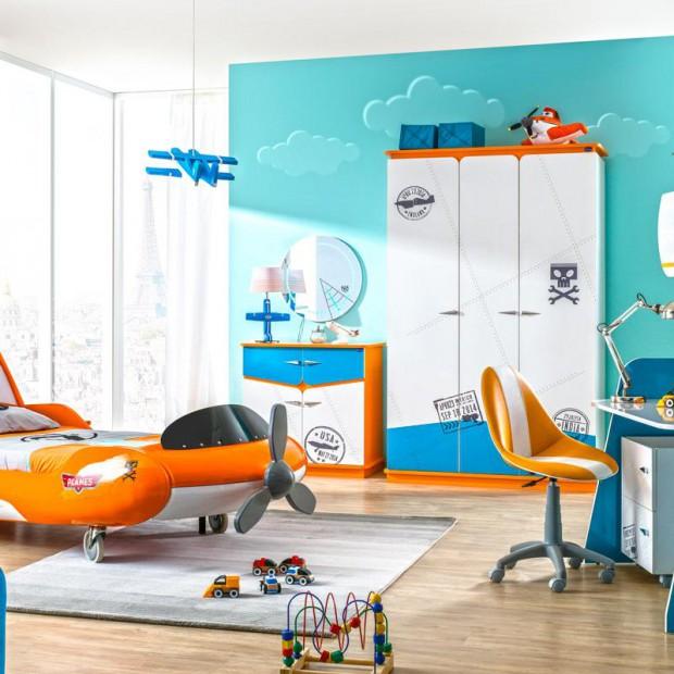 Pokój małego pilota. Zobacz, jak urządzić oryginalne wnętrze dla syna