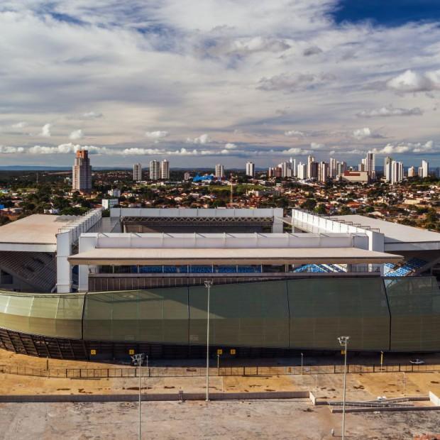 Wspomnienie mundialu. Stadion Arena Pantanal w Cuiabie
