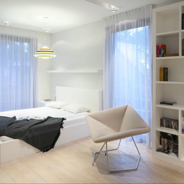 Jasna sypialnia w nowoczesnym stylu
