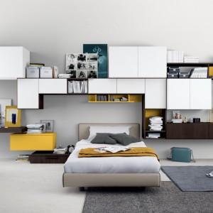 Model szafy umożliwia ustawienie segmentów w dowolnej konfiguracji. Fot. Colombini Casa.