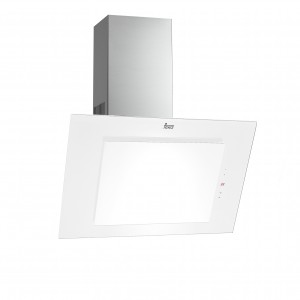 Okap przyścienny DVT 90/60 wykonany z inoxu i szkła w kolorze białym. Wyposażono go w specjalny system pochłaniania tzw. pochłanianie szczelinowe, w którym opary są zasysane i odprowadzane przez szczeliny znajdujące się pomiędzy szklanymi panelami i krawędziami okapu. Ma wygodne, sensorowe sterowanie, oświetlenie halogenowe, timer i wskaźnik zabrudzenia filtrów. Może działać z trzema różnymi prędkościami. Max. wydajność: 440 m3/h. Cena: 1.399 zł (szer. 60 cm), 1.799 zł (90 cm). Fot. Teka.