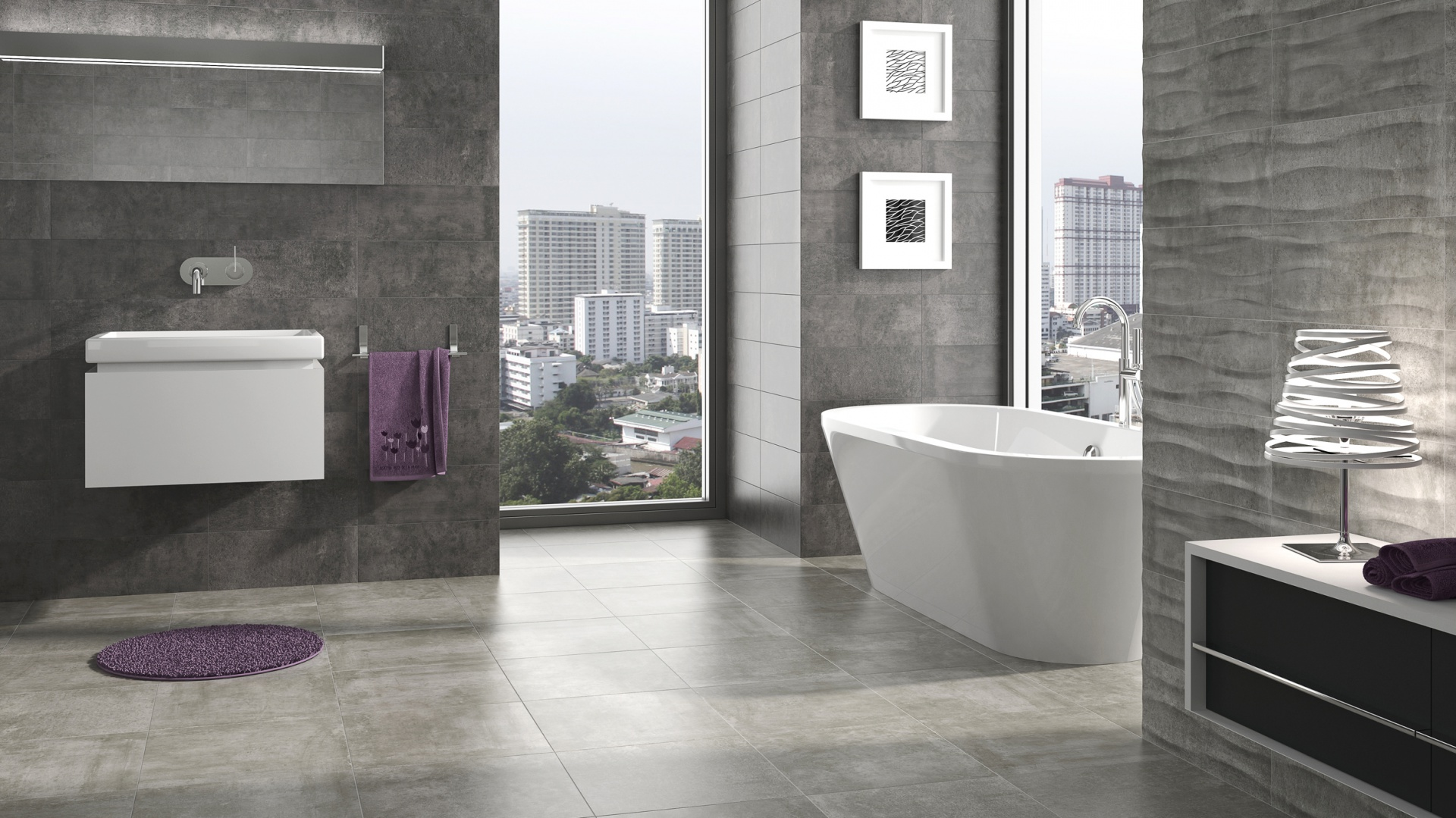 Wainscoting Bathroom Ideas Kolekcja Stadium Szare Płytki Do łazienki 15