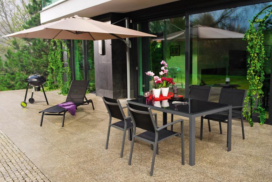 Stół o nowoczesnym, prostym  Meble do ogrodu Zobacz modne