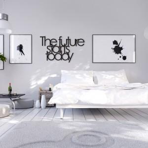 Napisy na ścianie: pomysł na dekorację sypialni