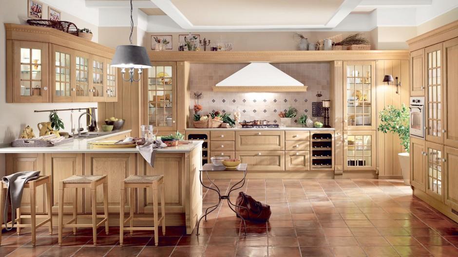 Dzięki drewnianym meblom Drewniana kuchnia ciepła