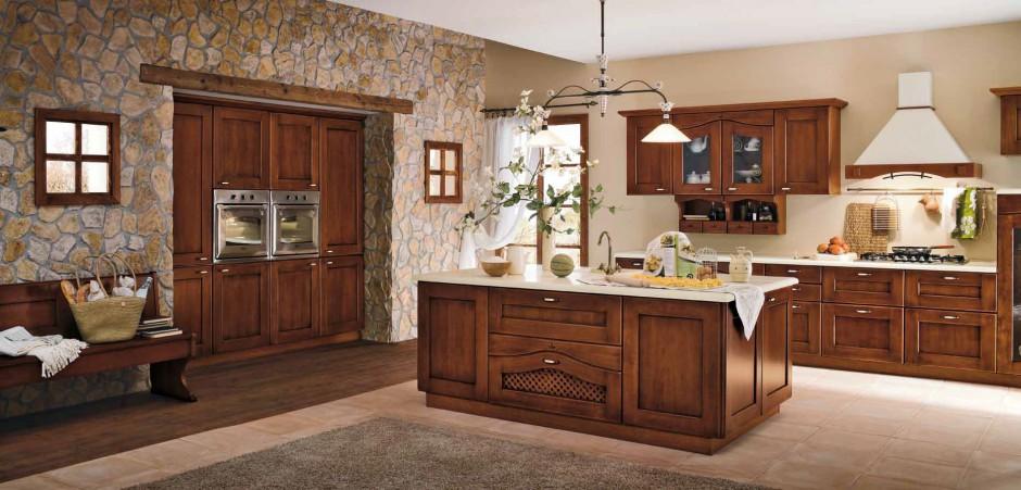 Ściana z kamienia Drewniana kuchnia ciepła, piękna, naturalna  Strona 15