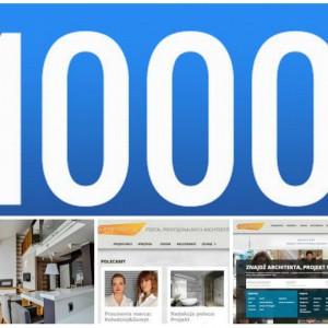 Konkurs: 1000 zarejestrowanych na Archiconnect.pl