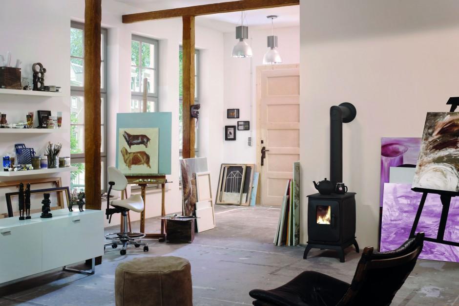 Piec Iron Dog odnajdzie się Kominek w salonie Tak   # Kuchnia Weglowa Koza