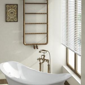 Grzejnik Art firmy Imers inspirowany stylem retro sprawdzi się w salonie kąpielowym. Fot. Imers.