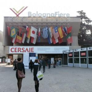 Bolońskie Cersaie to jedne z największych targów plytek w Europiw. W tym roku odbyły się po raz 32. Fot. Anna Raducha-Romanowicz.