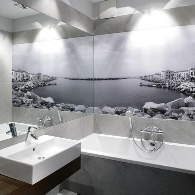 Łazienka z fototapetą. Piękne widoki z polskich domów
