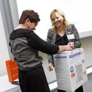 Dla uczestników konferencji przygotowaliśmy konkursy – jedną z nich były filtr do zabudowy pod zlewozmywakiem firmy Aquaphor.