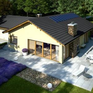 Już na etapie projektowania przyszłego domu możemy zaplanować zewnętrzny kominek. Pozwoli to dopasować go były i charakteru domu. Fot. Archipelag.