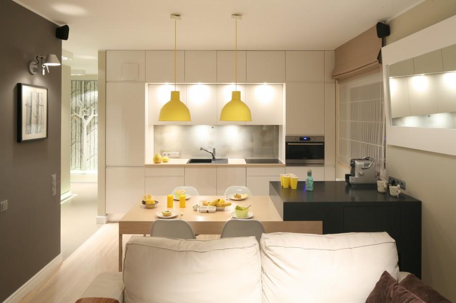 W niewielkiej przestrzeni Otwarta kuchnia Jak oddzielić ją od salonu i