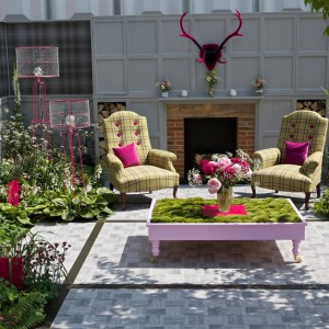Kolorowa, odważna propozycja na aranżację ogrodu. Proj. Chris Deakin & Jason Lock (Dealinlock Garden Design). Fot.  RHS Chelsea Flower Show.