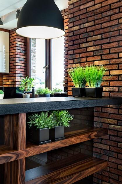 Fot Pracownia Mebli Vigo  Aranżacje wnętrz, projektowanie wnętrz, wystrój   -> Kuchnia Brick Vigo