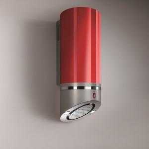 Lipstick Rossa to nowoczesny okap o fantazyjnym kształcie, przywodzącym na myśl... szminkę. Kolor - oczywiście - czerwony jak usta! Fot. Best/Comitor.