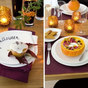 Aranżację stołu możemy urozmaicić latarenkami w jesiennym kolorze, które nadadzą mu tajemniczości i kolorystyką nawiążą do dyni. Fot. Villeroy & Boch.
