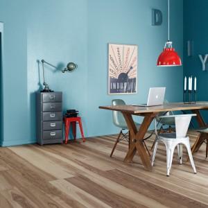 Złamany turkus także sam w sobie stanowi doskonały sposób na wykończenie ścian w salonie. Fot. Bondex.