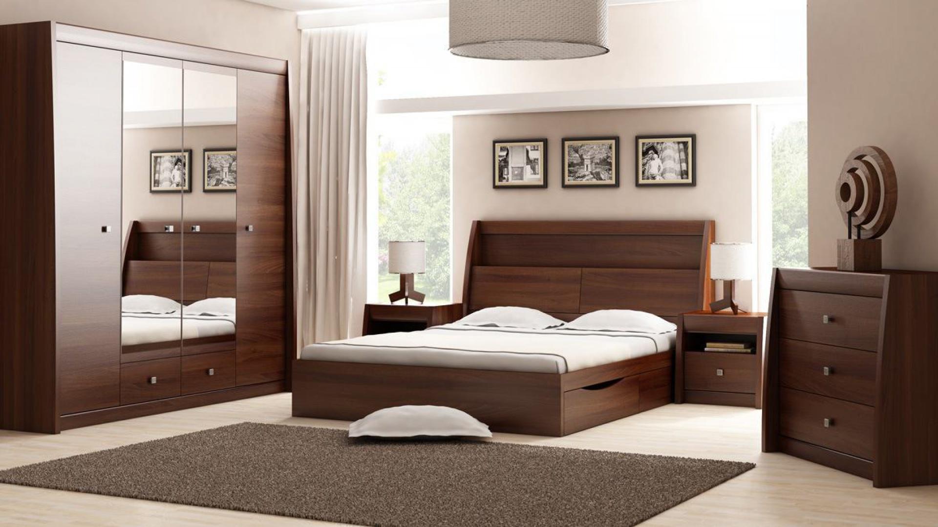 sypialnia sewilla z bokami meble do sypialni ciemne