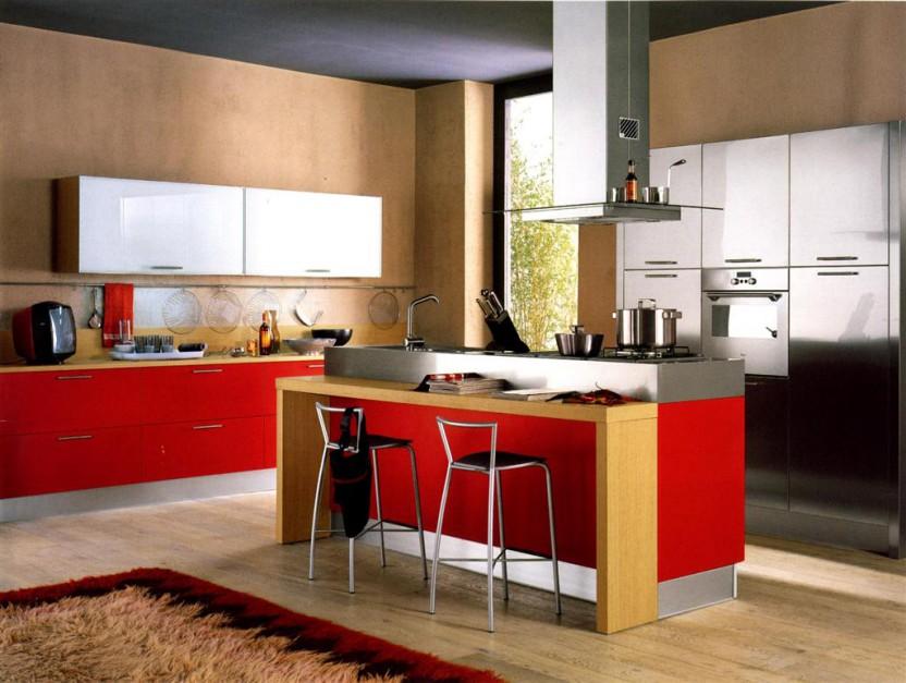 cucina rossa arredamento cucina : Modne S? W Aran?acji Kuchni Kafelki O Motywach Etnicznych Pictures ...
