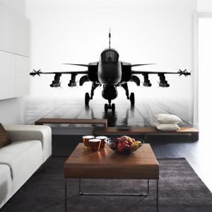 Startujący samolot na ścianie doda wnętrzu przestronności. Fototapeta Art of flying z kolekcji Creativy and Photo Art marki Mr Perswall. Fot. Mr Perswall.