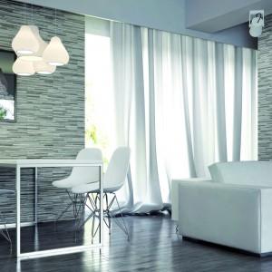 Okładzina Zebrina Marengo znakomicie wygląda we  wnętrzach typu loft, jak również w eleganckim stylu. Fot. Cerrad.