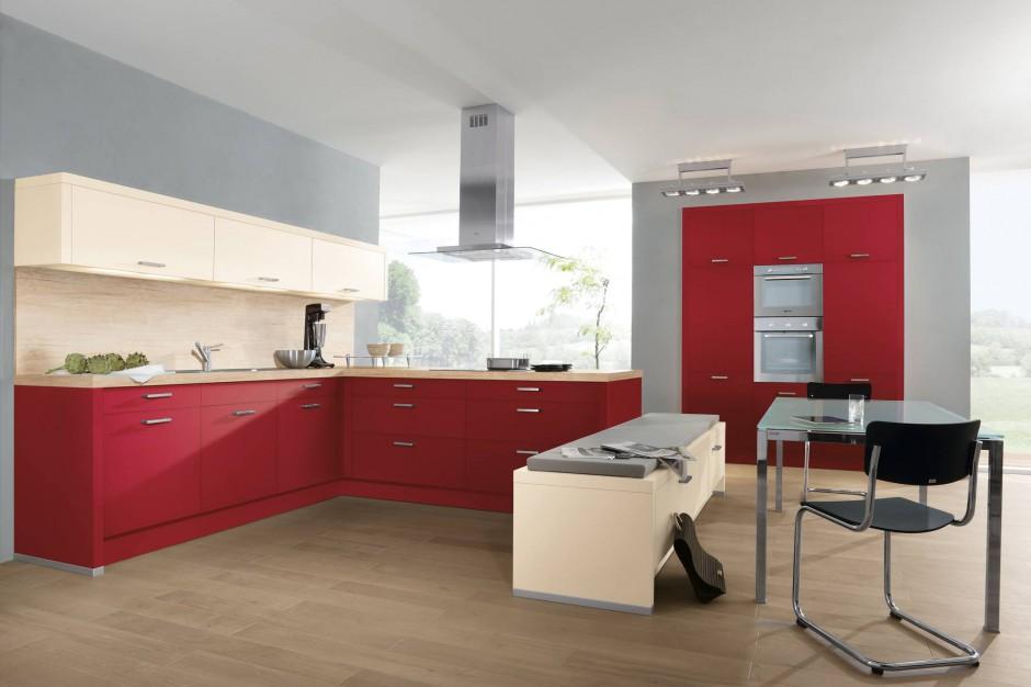 Czerwone fronty mebli czerwona kuchnia pomys y na for Cuisine wellmann