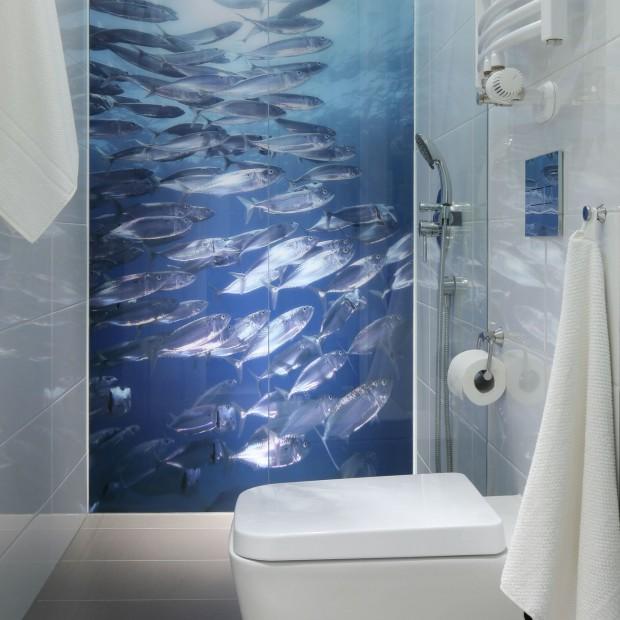 Mała łazienka: zobacz jak fototapeta powiększa przestrzeń