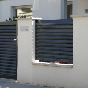 Aluminiowe ogrodzenie systemowe Trento to nowoczesne, eleganckie i praktyczne rozwiązanie. Fot. Colorex Fabryka Ogrodzeń.