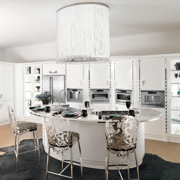 Luksusowa kuchnia: funkcjonalna i piękna jak diament