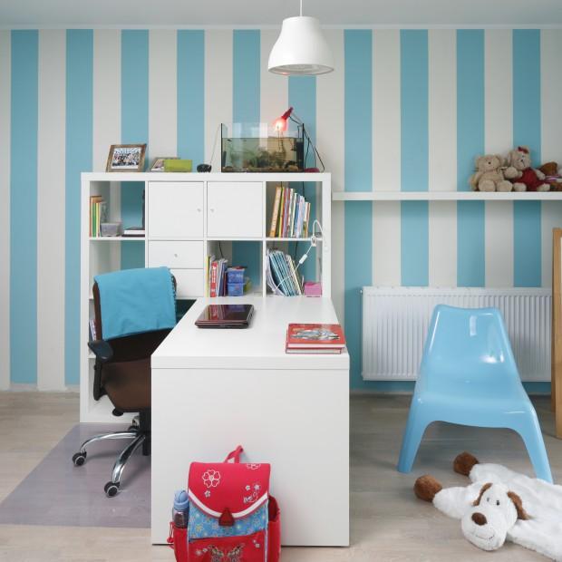 Błękitny pokój dziewczynki. Piękne wnętrze z pomysłem