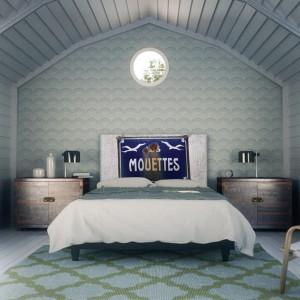 Na naszym zagłówku mogą znaleźć się inspiracje dalekimi podróżami, ulubionymi miejscami, dzięki czemu nasza sypialnia nabierze wyjątkowego charakteru. Fot. Noyo home.