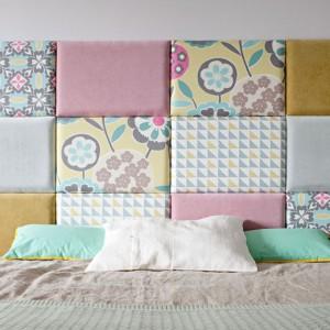 Modułowy, tapicerowany zagłówek stanowi funkcjonalne rozwiązanie. Połączenie nowoczesny designu i komfortowego, tradycyjnego wezgłowia. Fot. Made for bed.