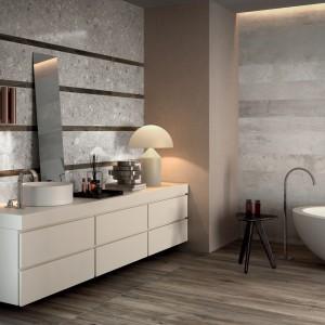 Kolekcja Portland 325 marki Ariana to efektowne połączenie różnych powierzchni inspirowane wyglądem ścian starych fabryk. Fot. Ariana.