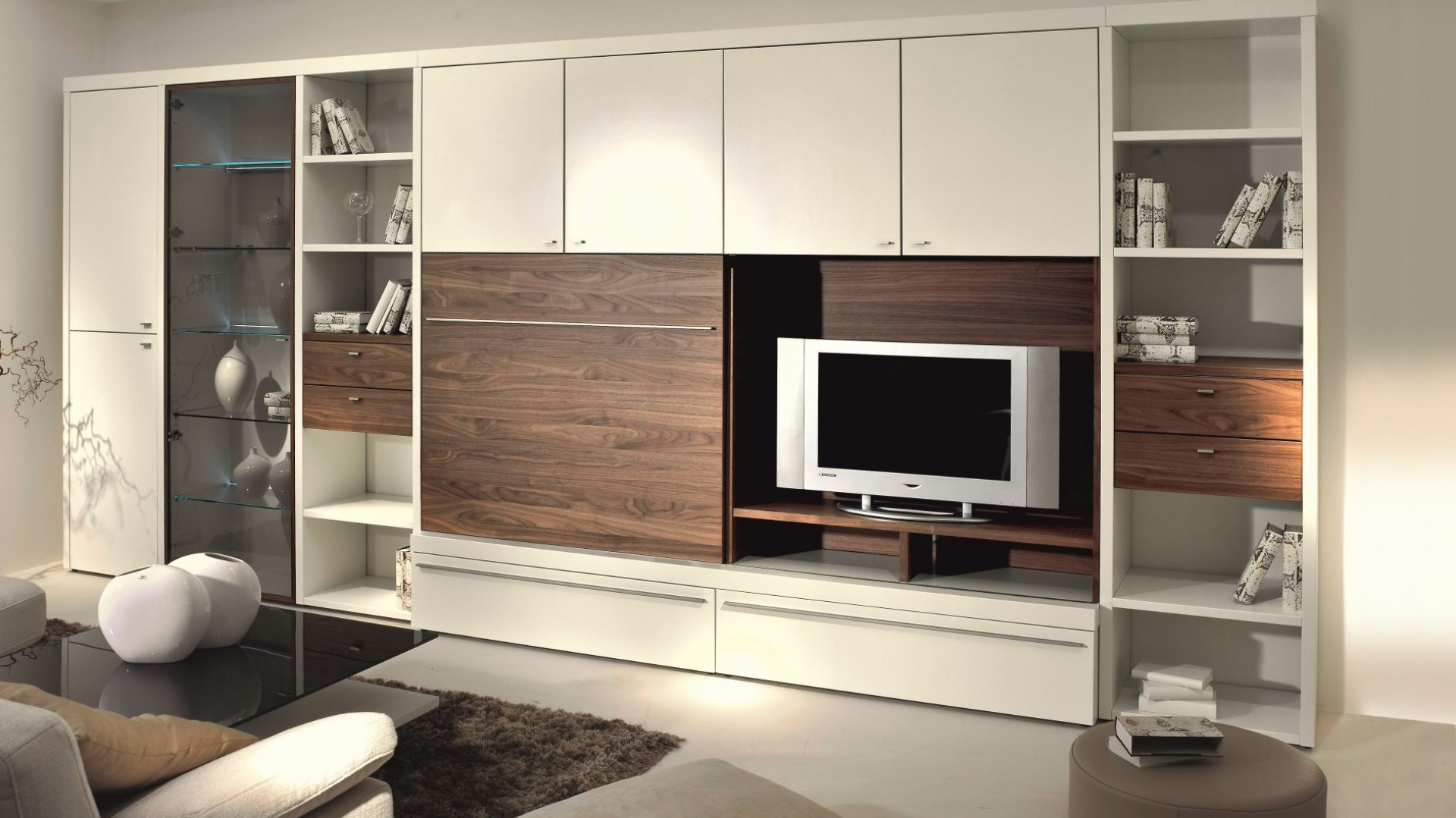 meblo cianka encado ii bia e meble ocieplone drewnem. Black Bedroom Furniture Sets. Home Design Ideas