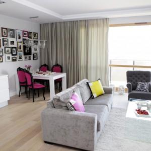 Wnętrze dla kobiety: piękne mieszkanie na Żoliborzu